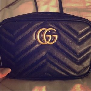 GUCCI MARMONT QUILTED CROSSBODY W/ DUSTBAG